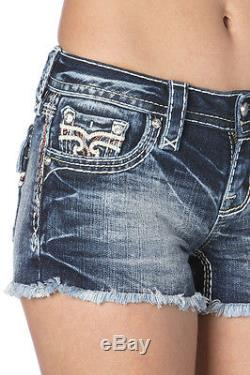 $150 Brand New 2015 Rock Revival Women's Jeans Shorts RP9091H202 Bambi H202 27