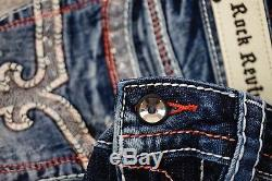 $180 Rock Revival Jean Windie Red Stitch Leather Inserts Sequins Shorts Sz 25