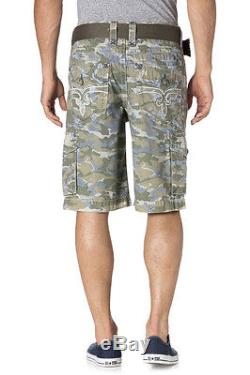 $200 Rock Revival Men's RCM127 KHAKI CAMO Cargo Shorts 32 34 36 38 40 42 44