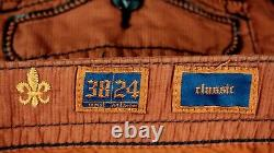 $220 Mens Rock Revival Jeans Brick Red Twill Shorts Size 38
