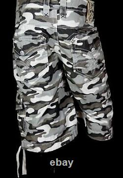 $220 Mens Rock Revival Jeans Camo Twill Shorts Size 44