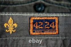 $220 Mens Rock Revival Jeans Chocolate Twill Shorts Size 42