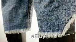 $220 Mens Rock Revival Jeans Seager Studded Leather Inserts Shorts Size 34