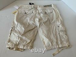$78 NWT Rock Revival Buckle Shorts Metal Button Stud Size 31 New With Tags