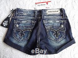 BUCKLE NWT/NIP Rock Revival Johanna Cuffed Shorts Size 28- Sold Out-Great Gift