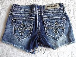 BUCKLE New Rock Revival Scarlett Frayed Shorts Size 29- Sold Out-Great Gift