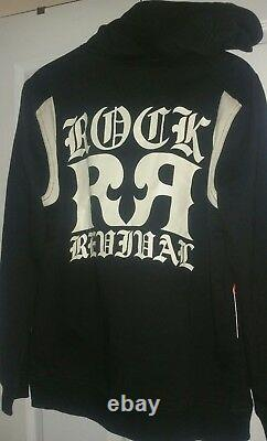 Brand New Rock Revival Black Eagle Energy Hoodie Size L Very Cool