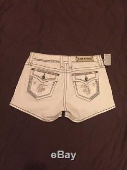 Buckle ROCK REVIVAL BELLA H3 Heavy Stitch White Shorts 31 NWT $129