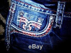 Buckle ROCK REVIVAL CLAIR Easy Shorts Mid-Rise Embellished Stretch 29 Fit 30 NEW