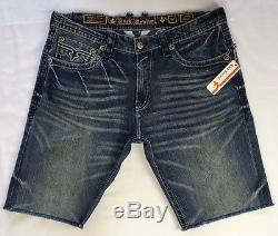 CHEAP NWT Sale Men ROCK REVIVAL Mid Rise Lemly Flap Cut Off Denim Jean Shorts 42