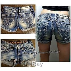 From Buckle Rock Revival Amy Jean Shortslow Rise Thick Stitchso Cute! Size 24