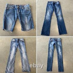 Lot of 12 Miss Me and Rock Revival Jeans and Shorts Bootcut