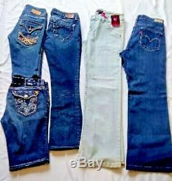 Lot of Rock Revival, Miss Me, MEK, BKE, LA Idol, Robins, Levi, Jeans and Shorts
