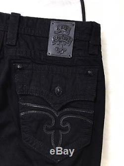 Men's Rock Revival Designed in the USA Steven Black Shorts Size 44 NWT