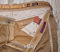 Men's Rock Revival Rinks Shorts BKE Buckle Thick Stitch Pants Jeans 36