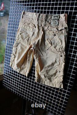 Mens Buckle Rock Revival Shorts Perfect Off White Cargo 33 W17/L12/R12 Nice 3