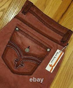 Mens Rock Revival Flat Front Shorts Salsa Red RSM1018-1 Size 42