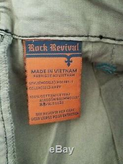 NEW ROCK REVIVAL Size 36 MEN'S CLASSIC CARGO 23 SHORTS STYLE # REC141-1 GRY