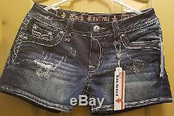 NEW Women's Rock Revival Anais H8 Denim Jean Shorts Size 29