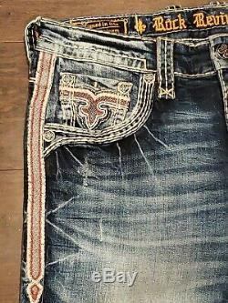 NWOT Mens Rock Revival Jeans BARD Alt Straight. Size 32X34. Retail Price $169