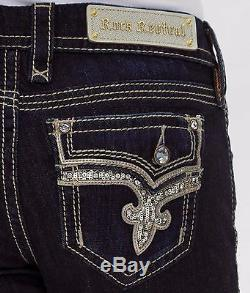 NWOT Rock Revival Betty Easy Bermuda Shorts Jeans Cropped Capris sequins HOT