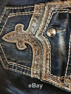NWOT Rock revival Kai shorts distressed crystals bling cutest style sexy 30