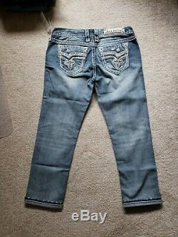 NWT Rock Revival Betty Skinny Crop Jeans Size 30 Check Measurements For Fit