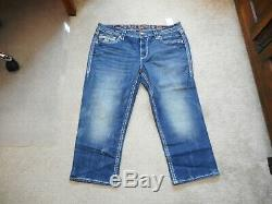 NWT Rock Revival Cloee Easy Crop Jeans Size 34