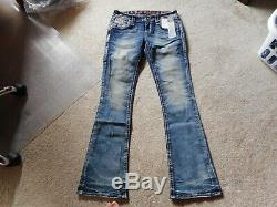 NWT Rock Revival Fenna Boot Jeans Size 27 Check Measurements For Fit