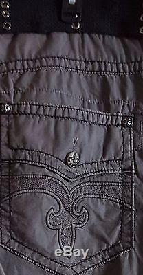 NWT Rock Revival Mens Grey Cargo shorts size 42 with Belt