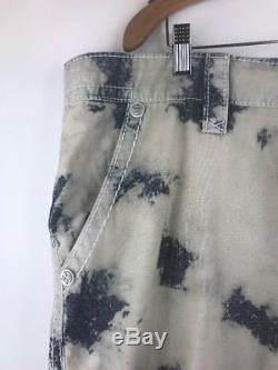 NWT Rock Revival Mens Shorts 42 Tie Dye Blue Buckle