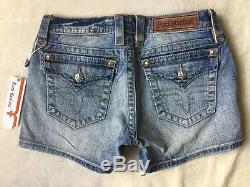 NWT Women's ROCK REVIVAL Low Rise Jessica Flap Pocket Stretch Mid Shorts SIZE 30