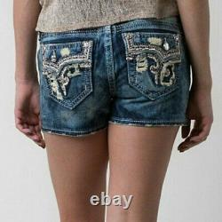 NeW! HTF ROCK REVIVAL BETTY FACTORY ACID BLEACHED SHORTS SIZE 27