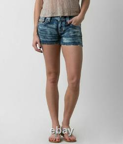NeW! HTF ROCK REVIVAL BETTY FACTORY ACID BLEACHED SHORTS SIZE 28