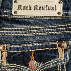 NeW ROCK REVIVAL ANGIE DIP-DYE OMBRE EMBELLISHED SHORTS SIZE 29