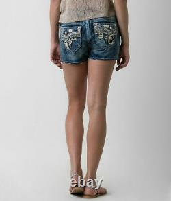 NeW ROCK REVIVAL BETTY FACTORY ACID BLEACHED SHORTS SIZE 28