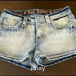 NeW ROCK REVIVAL PECOLA LIGHT WASH SHORTS SIZE 28