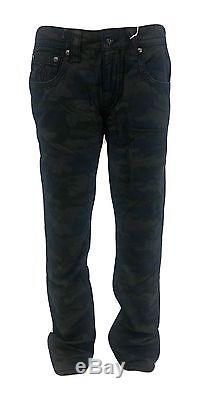 New Rock Revival Men's Straight Fit Camo Guy's Jeans