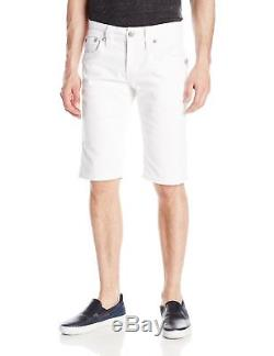 New with Tags! Mens Rock Revival Steven White Denim Jean Shorts- Style H85