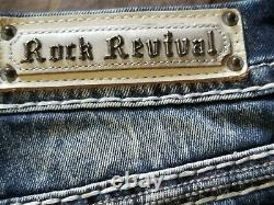 Nwt Rock Revival Barbra Short Easy MID Rise Stretch Embellished Lots Of Bling