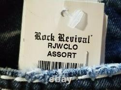 Nwt Rock Revival Barbra Short Easy MID Rise Stretch Size 26 Bling
