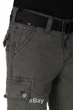 ROCK REVIVAL Charcoal Cargo Shorts NWT RCM035-6A