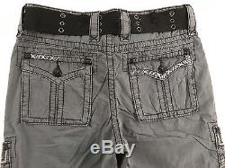 ROCK REVIVAL Jeans NWT/DEFECT Cheap Sale Mid Rise Navy Classic Cargo Shorts 30