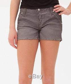 ROCK REVIVAL Jeans Sale NWT/DEFECT Vivian Frayed Cut Off Stretch Grey Shorts 26