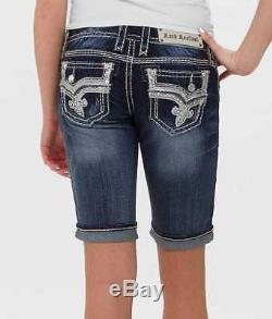ROCK REVIVAL Jeans Sale RaRe Betty Bermuda Bling Stretch Denim Jean Shorts 26