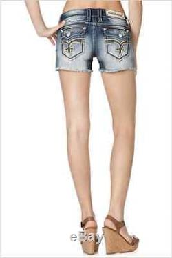 ROCK REVIVAL Louise Shorts NWT RP9097H