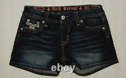 ROCK REVIVAL Size 28 ISELIN EASY SHORTS Denim Shorts #AW65 mint