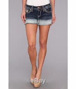 Rock Revival Womens Angie H11 Denim Sequin Jean Shorts Size 28 New