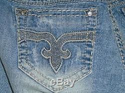 Rock Revival Anabela Mid-Rise Curvy Stretch Jean Shorts Size 26 NWOT $129 Buckle