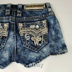 Rock Revival Betty Denim Shorts Women's Size 24 Awesome Actual Measures 28W